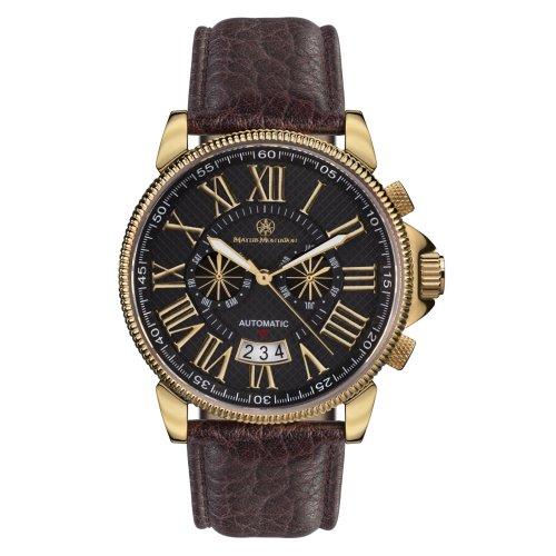 Mathis Montabon 100070MM-04_gold/schwarz - Orologio da polso, cinturino in pelle colore marrone