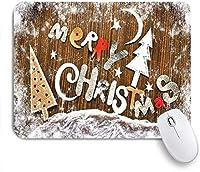 VAMIX マウスパッド 個性的 おしゃれ 柔軟 かわいい ゴム製裏面 ゲーミングマウスパッド PC ノートパソコン オフィス用 デスクマット 滑り止め 耐久性が良い おもしろいパターン (クリスマス木製ボード正月飾りクリスマスツリージンジャーブレッドマンヴィンテージでレトロな木材に雪の結晶)