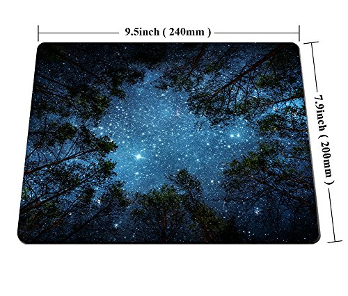 Beautiful Night Sky Mouse Pad by Smooffly, The Milky Way and The Trees Mouse Pad,Sublime Forest Nature View Rectangle Non-Slip Rubber Mousepad Gaming Mouse Pad Photo #5