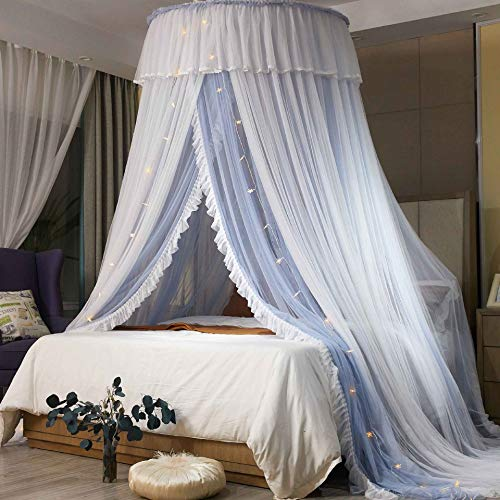 SXFYHXY Canopy for Kids Bed Double Layer Sheer Mesh Dome Bed Curtain Princess Tent for Double Beds Baby Cots Children's Beds Net Canopy