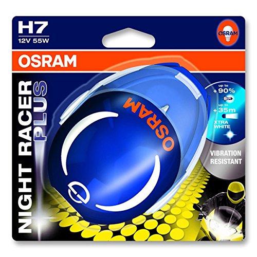 OSRAM NIGHT RACER PLUS lampe H7 64210NRP-01B 90% de lumière en plus en blister simple - production interrompue