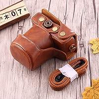 AMPELOS キヤノンEOS M10用ストラップとの良好なボディカメラPUレザーケースバッグ カメラバッグ (Color : Brown)
