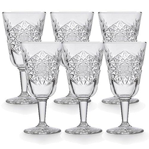 Libbey - Weinglas, Rotweinglas, Weißweinglas - Hobstar - 6 Stück - Wine - Kristallglas - 300ml