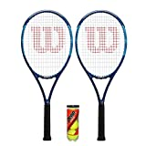 Wilson Ultra Power Team - Raqueta de tenis (2 + 3 pelotas de tenis)