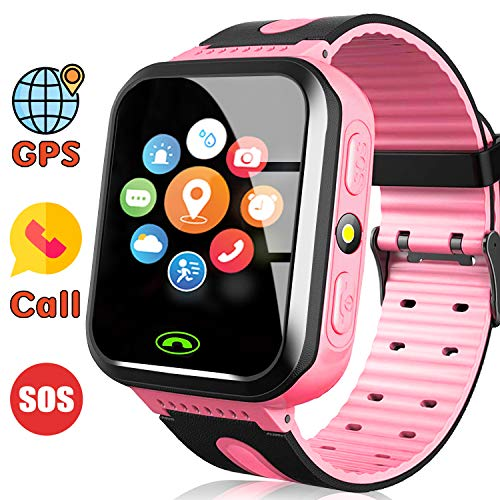 AMENON Kids GPS Tracker Smart Watch for Girls with Calls SOS