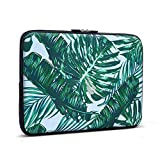 iCasso 11-13.3 Laptop Sleeve Palm Leaf Pattern Nylon Protecteur Cover Imperméable étui Housse pour MacBook Air, MacBook...