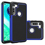 Moto G Fast Case, Motorola G Fast Case with HD Screen Protector,Giner Dual Layer Heavy-Duty Military-Grade Armor Defender Protective Phone Case Cover for Motorola Moto G Fast (Blue Armor)