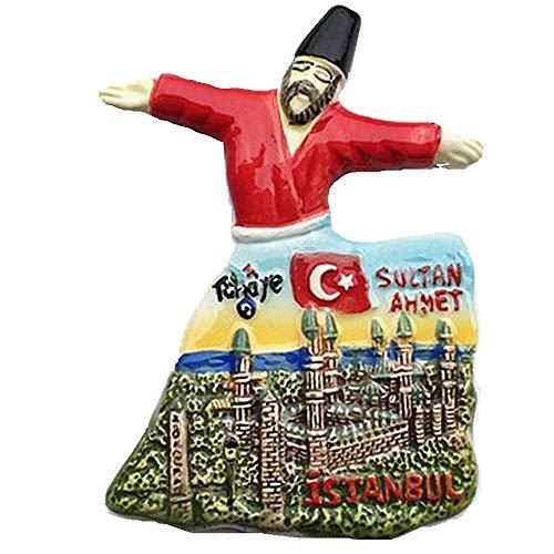 Sultanahmet Blaue Moschee von Istanbul Türkei 3D-Kühlschrankmagnet Souvenir Geschenk Sammlung Heim & Küche Dekoration Whiteboard Magnetaufkleber Istanbul Türkei Kühlschrankmagnet (rot)