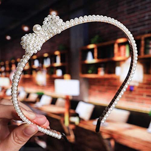 Diadema hecha a mano con perlas para el pelo para mujeres y niñas, accesorios para la diadema, 10 unidades