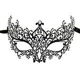 Lady of Luck Veneziana Maschere Metallo Carnevale Maschera Diamante Ultra Sottile Tagliata...