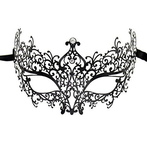Lady of Luck Máscara de Encaje, Negra Atractiva Máscara de Mujeres Antifaz para Halloween...