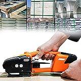 Flejadora eléctrica, Herramienta de flejado de soldadura en caliente automática Máquina flejadora de cinturón de correa portátil para PP PET, Máquina flejadora de fusión en caliente portátil de mano