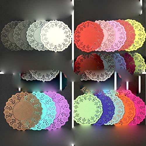 JIAYAN 20 unidades de 4.5 pulgadas 11.4 cm colorido redondo de encaje decoupage de papel de decoupage para festivales, fiestas, bodas, álbumes de recortes
