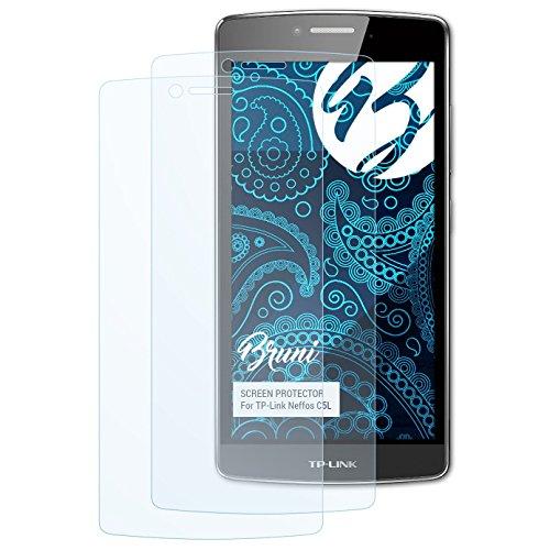 Bruni Schutzfolie kompatibel mit TP-Link Neffos C5L Folie, glasklare Bildschirmschutzfolie (2X)
