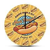 Alwayws Fresh Hot American Hot Dogs Reloj de pared Arte de l
