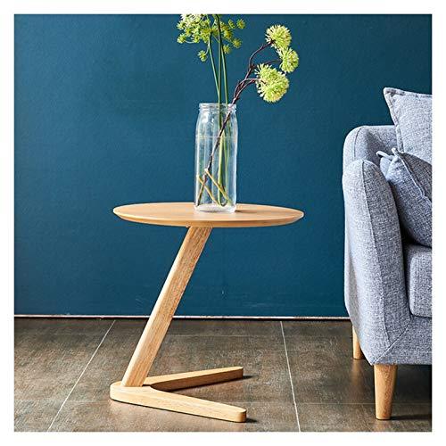 Mesa de Café Mesa de Salón Mesa redonda de la mesa de acento en forma de textura de madera con acabado de la mesa de la mesa de la mesa de estar for la sala de estar dormitorio espacio for pequeños es