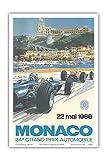 24. Grand Prix von Monaco - 22. Mai 1966 - Monaco Rennstrecke, Monte Carlo - Formel-1 - Sir Jackie Stewart - Altes Vintage Retro Werbe Plakat von Michael Turner 1966 - Kunstdruck - 31cm x 46cm