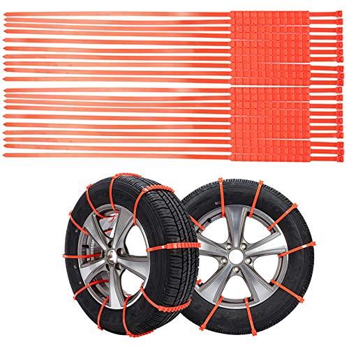 """Honeyhouse Auto Schneeketten Set, Universal Reifenketten Anti Rutsch Auto Ketten Kunsstoff Schneeketten für Auto SUV PKW mit Reifenbreite 5.7\""""-11.6\"""" Winter Fahren (20 PCS)"""