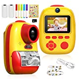 Laelr Kids Digital Camera Children Camera Rechargeable 26MP Instant Print Camera Polariod Style USB Child Digital Instant Camera 1080P Video Camcorders With 32G SD Card, 3-Roll Paper, Stickers