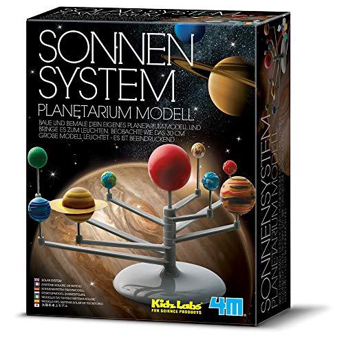 4M 68399 Planetarium Modell Sonnensystem, KidzLabs Bausatz, bunt