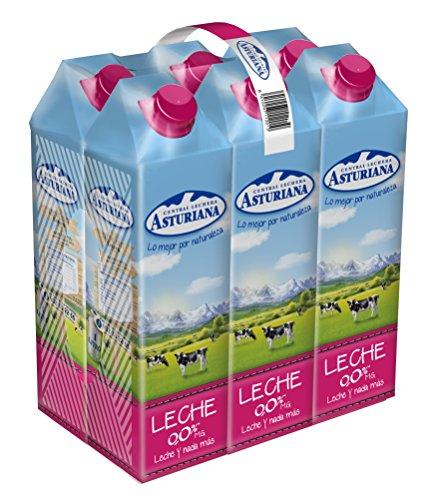 Central Lechera Asturiana Leche Tradicional 0,0% - Paquete de 6 x 1000 ml - Total: 6000 ml