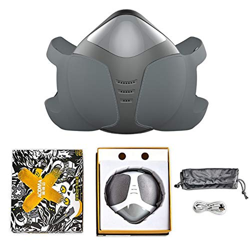 CYCPACK Smart eléctrico Respirador de Aire de la respiración purificador Gris - a Prueba de Polvo Anti-contaminación Careta - Filtro de carbón Activado respirador Reutilizable Lavable