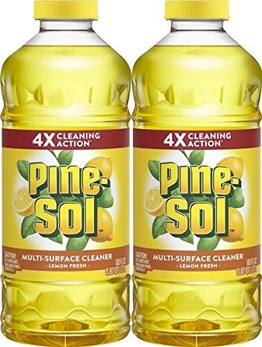 Pine-Sol Multi-Surface Cleaner, Lemon Fresh Scent, Two Count Bottle, 120 fl oz Total, (2x60), Basic Pack, 2