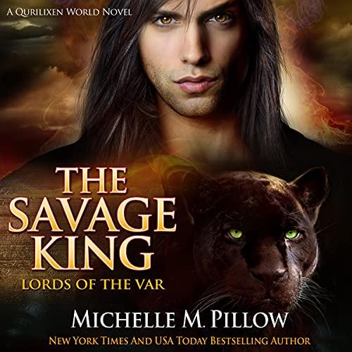 Diseño de la portada del título The Savage King: A Dragon Lords Story