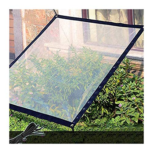 Glass Clear Tarpaulin Tarpaulin Clear Tarp Waterproof Tarpaulin Cover Soft Glass With Eyelets Outdoor Foldable Tear Resistant (Color : Clear, Size : 3Mx6M)