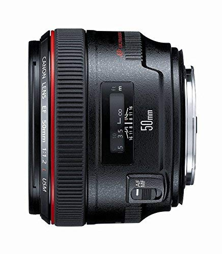 Canon EF 50mm f/1.2 L USM Lens for Canon Digital SLR Cameras - Fixed (Renewed)