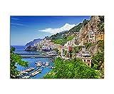 Paul Sinus Art 120x80cm - WANDBILD Amalfi Italien Meer