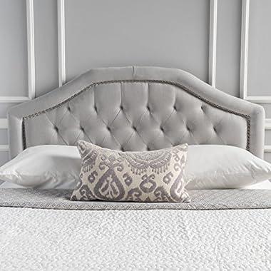 Killian Light Grey Fabric Queen/Full Headboard by Christopher Knight Home
