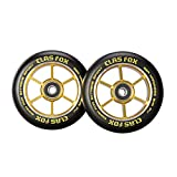 CLAS FOX 100mm One Pair Pro Stunt Scooter Wheels with ABEC-9 Bearings CNC