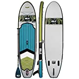 ISLE Pioneer Inflatable Stand Up Paddle Board & iSUP Bundle Accessory Pack — Durable, Lightweight with Stable Wide Stance — 240 lbs Capacity, 10'6' Long x 31' Wide x 6' Thick