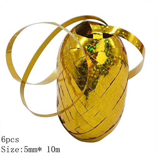 KTUCN Lint Zijde Satijn Roll - 5mm Ballonnen Linten Lint voor Feestdecoratie Geschenken Doos DIY Verpakking Bruiloft Decoratie Folie Satijn Linten Accessoires, 1