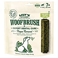 A daily dog dental stick that will reduce tartar build up, cleans teeth and freshens your dog's breath Dog dental chew (1 pack of 7 chews) designed specifically for medium sized dogs Made with natural ingredients: 2.2 Percent algae, 0.3 Percent fenne...