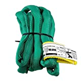 USA Made VR2 X 6' Green Slings 4'-30' Lengths in Listing, Double PLY Cover Endless Round Poly Lifting Slings, 5,300 lbs Vertical, 4,240 lbs Choker, 10,600 lbs Basket (USA Poly)(6 FT)