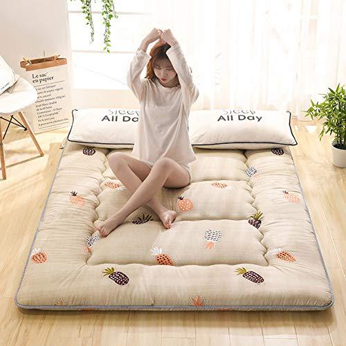 LXSHMF Japanese Traditional Futon Mattress,Anti-slip Tatami Floor Mat Sleeping Pad Foldable Mattress Roll-up Guest Bed For Dorm Room Bedroom J 150x200cm(59x79inch)