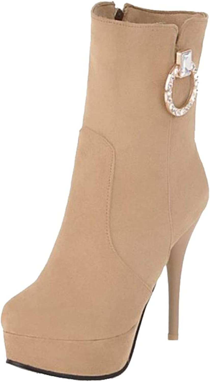 Onewus Women Sexy Platform Ankle Boots