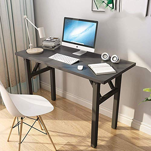 YANGSANJIN Table Computer Desk, Foldable, Desk, Small for Home,Computer Desk,Office Table(80cm x 60cm)