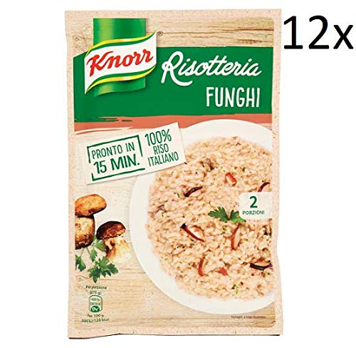 12x Knorr Risotto Funghi Reis Steinpilze 175g 100% italienisch Fertiggerichte