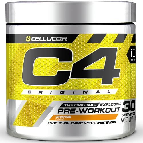 Cellucor - C4 Original - Suplemento explosivo de preentrenamiento - Naranja - 30 raciones…