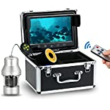 Lixada Underwater Fish Finder 1000TVL 9inch Large Color Screen Underwater Fishing Camera with 18 Infrared IR LED Night Vision, 360° Full Angle, 30M Cable