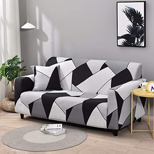 ASCV Fundas de sofá elásticas geométricas Fundas de sofá elásticas para Sala de Estar Protector de Muebles sofá Toalla Funda de sofá A7 2 plazas