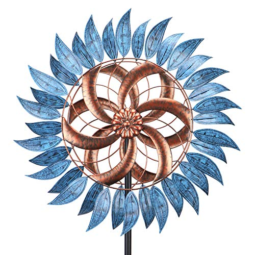 WONDER GARDEN Wind Spinner - 6.2FT Large Wind Spinner Metal Windmills For Patio Lawn And Garden Outdoor Decorations