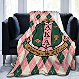 AIMOM Alpha Kappa Alpha AKA Blanket Soft Cozy Throw Blanket Flannel Blankets for Couch Bed Living Room 40 X 50 Inch