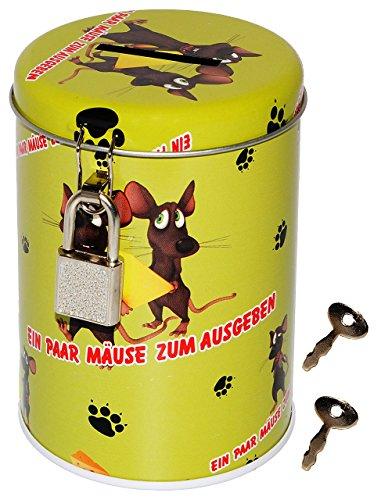 alles-meine.de GmbH Spardose -  EIN Paar Mäuse zum Ausgeben  - stabile Sparbüchse aus Metall - Shopping - Einkaufen & Sparen - Reise / Flugreise - Autoreise - Deko - Dekoration..