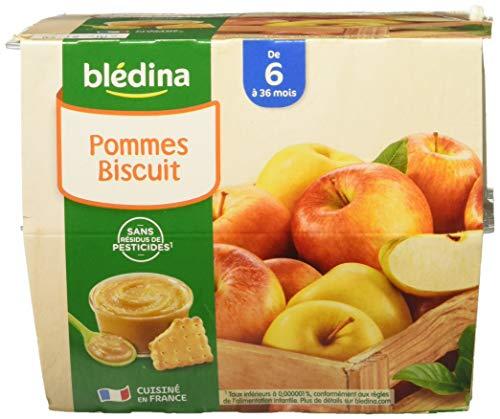 Blédina 8 Coupelles Pommes Biscuit dès 6 mois - 8 x 100 g