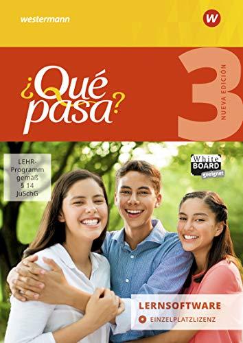 ¿Qué pasa? - Ausgabe 2016: Lernsoftware 3: Einzelplatzlizenz: Lehrwerk für Spanisch als 2. Fremdsprache ab Klasse 6 oder 7 - Ausgabe 2016 / ... ab Klasse 6 oder 7 - Ausgabe 2016)