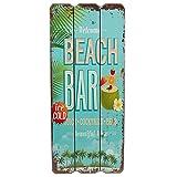 Woodpassion Holzschild Beach BAR Tropical Bar Wandschild MDF Wanddeko Schild Strand Urlaub Welcome...